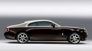 Preview wallpaper rolls-royce, coupe, side view, car
