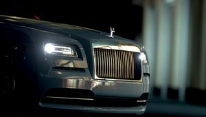 Preview wallpaper rolls-royce, front view, headlights, bumper