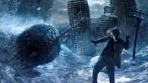 Preview wallpaper romantically apocalyptic, art, ball, destruction