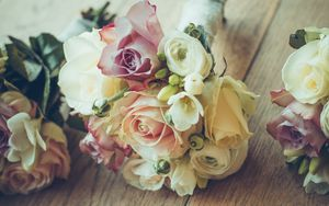 Preview wallpaper roses, bouquet, composition, design