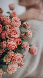 Preview wallpaper roses, flowers, bouquet, pink, gentle