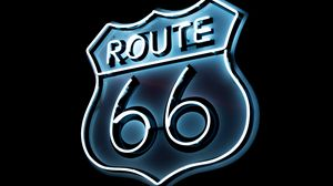 Preview wallpaper route 66, neon, numbers, inscription
