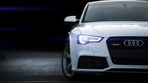 Preview wallpaper rs5, audi, white, front view
