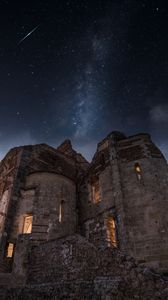 Preview wallpaper ruins, architecture, starry sky, veneto, italy