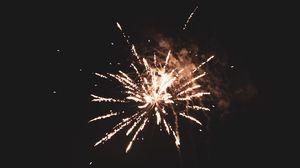 Preview wallpaper salute, fireworks, black