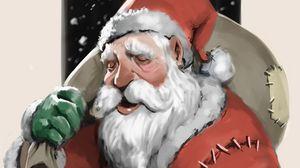 Preview wallpaper santa claus, new year, christmas, art, gifts