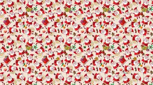 Preview wallpaper santa claus, texture, background, pictures