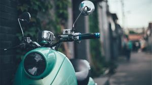 Preview wallpaper scooter, moped, vespa, retro, mint
