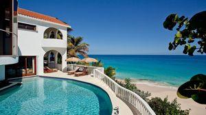Preview wallpaper sea, beach, hacienda