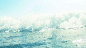 Preview wallpaper sea, foam, wave
