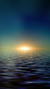 Preview wallpaper sea, horizon, shiny, minimalist, sunlight