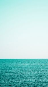 Preview wallpaper sea, sky, horizon, water, waves