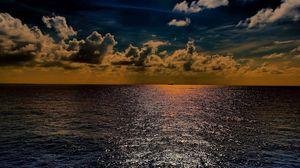 Preview wallpaper sea, sky, light, summer, beautiful, horizon