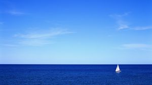 Preview wallpaper sea, sky, yacht, sail, silence, serenity