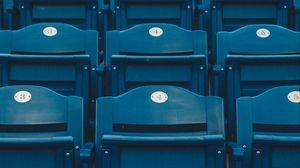 Preview wallpaper seats, rows, tribune, blue