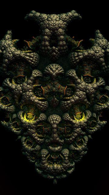 360x640 Wallpaper shape, 3d, volume, object