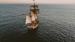 Preview wallpaper ship, sail, ocean