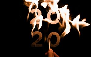 Preview wallpaper 2020, year, fire, flame, burn