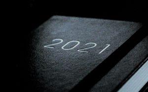 Preview wallpaper 2021, notepad, inscription, clock