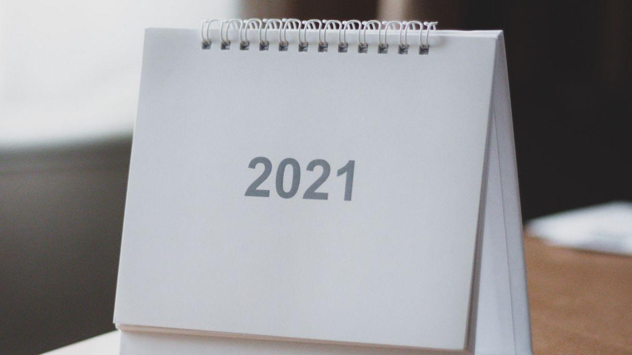 Wallpaper 2021, year, calendar