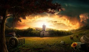 Preview wallpaper 3d, photoshop, nature, landscape