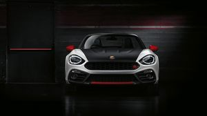 Preview wallpaper abarth, fiat, front view, black