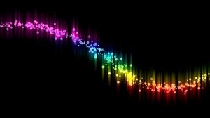 Preview wallpaper abstract, black, colorful, curve