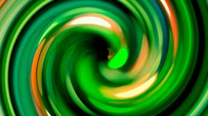 Preview wallpaper abstract, spiral, spin, green