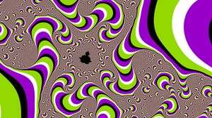 Preview wallpaper abstraction, illusion, purple, green, white