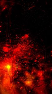 Preview wallpaper abstraction, red, black, universe, space, star, galaxy