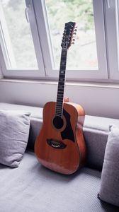 Preview wallpaper acoustic guitar, guitar, music, musical instrument
