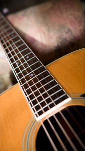 Preview wallpaper acoustic guitar, guitar, music, strings, fretboard