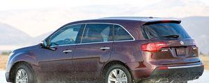 Preview wallpaper acura, mdx, vinous, jeep side view, drift, wet asphalt, auto