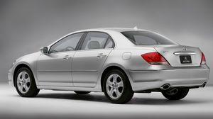 Preview wallpaper acura, rl, sedan, auto, silver metallic, side view, style