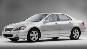 Preview wallpaper acura, rl, sedan, silver metallic, side view, style, auto