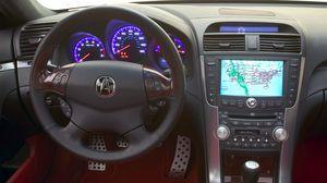 Preview wallpaper acura, tl, 2003, concept car, salon, interior, steering wheel, speedometer