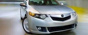 Preview wallpaper acura, tsx, 2008, silver metallic, front view, style, cars, speed, drift
