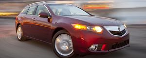 Preview wallpaper acura, tsx, 2010, red, front view, style, cars, speed, drift, lights
