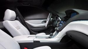 Preview wallpaper acura, zdx, 2009, concept car, salon, interior, steering wheel