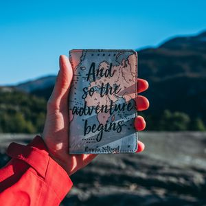 Preview wallpaper adventure, inscription, hand