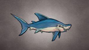 Preview wallpaper shark, art, fish, predator