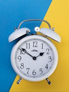 Preview wallpaper alarm clock, clock, time, white