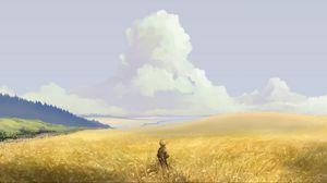 Preview wallpaper alone, art, field, sky