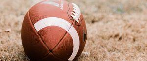 Preview wallpaper american football, ball, lawn, marking