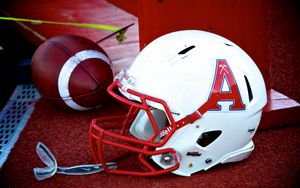 Preview wallpaper american football, helmet, ball, glove