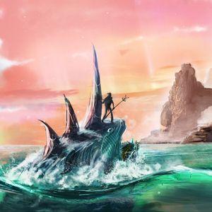 Preview wallpaper amphibian, art, sea, fantasy