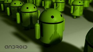 Preview wallpaper android, red, robot, shape, hi-tech