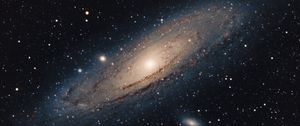 Preview wallpaper andromeda galaxy, stars, shine, space
