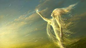 Preview wallpaper angel, light, field