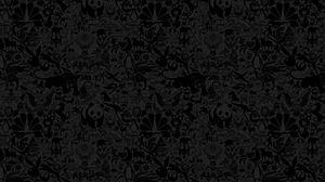 Preview wallpaper animals, drawing, black, wall
